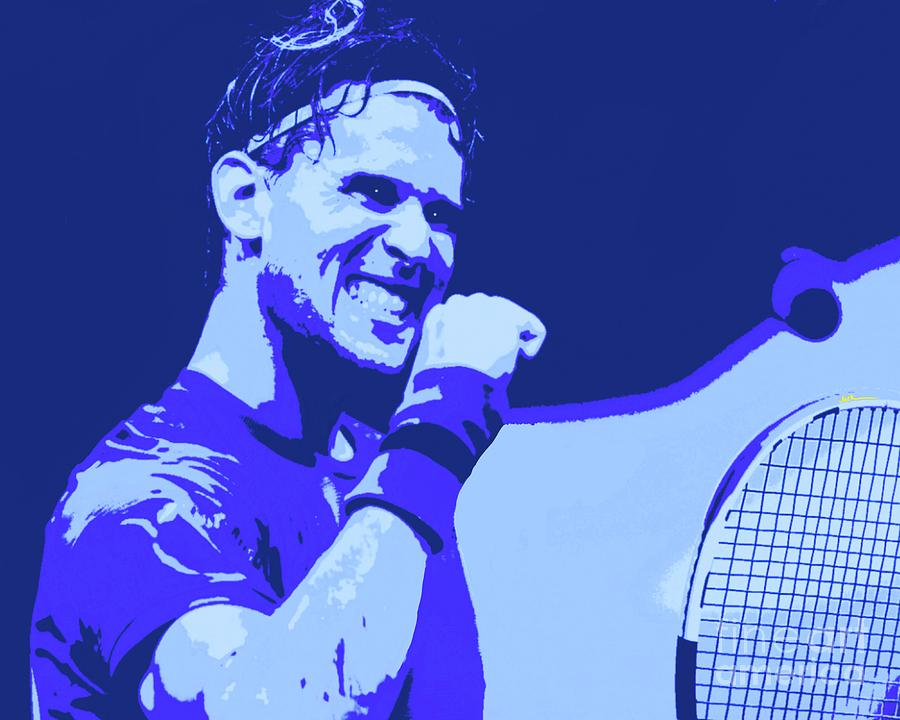 Thiem Painting - Thiem Wins US Open by Jack Bunds