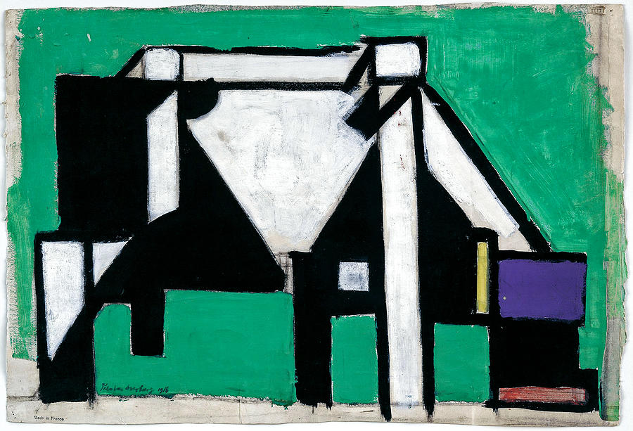 Theo Van Doesburg Dutch 1883 1931 Study For Composition Viii The Cow  C 1917 Painting