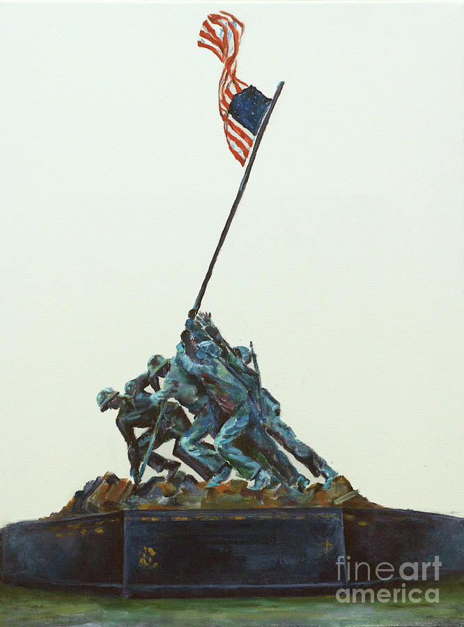 Usa Painting - They Stood For Us by Elizabeth Roskam