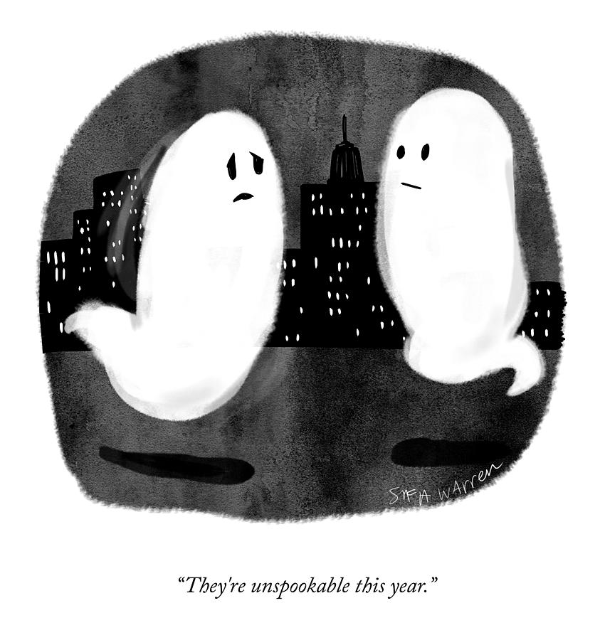 Theyre Unspookable Drawing by Sofia Warren