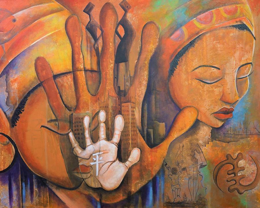 Lockdown Painting - Things Fall Apart 1 by Mark Kainyah