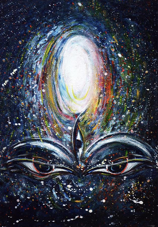 Third Eye In Cosmos Painting