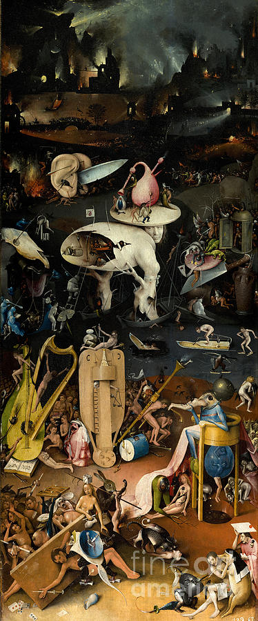 Third Panel The Garden Of Earthly Delights By Hieronymus Bosch Painting By Art Anthology