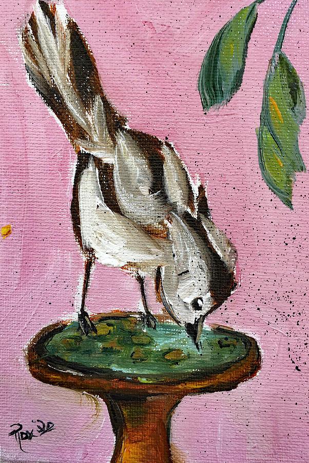 Thirsty Bird Painting