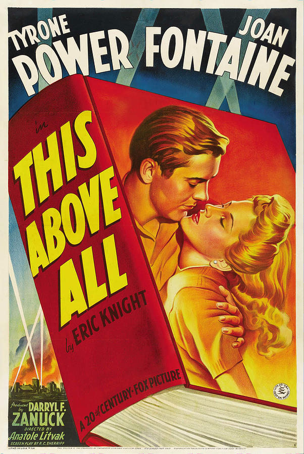 this Above All With Tyrone Power, 1942 Mixed Media