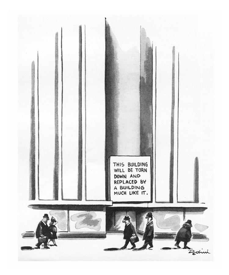 This Building Will Be Torn Down Drawing by Eldon Dedini