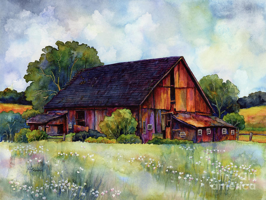 Barn Painting - This Old Barn by Hailey E Herrera