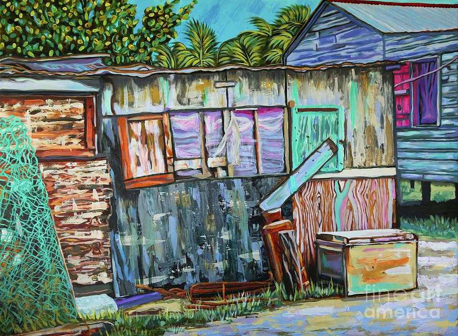 This Old House On Caye Caulker Belize Painting