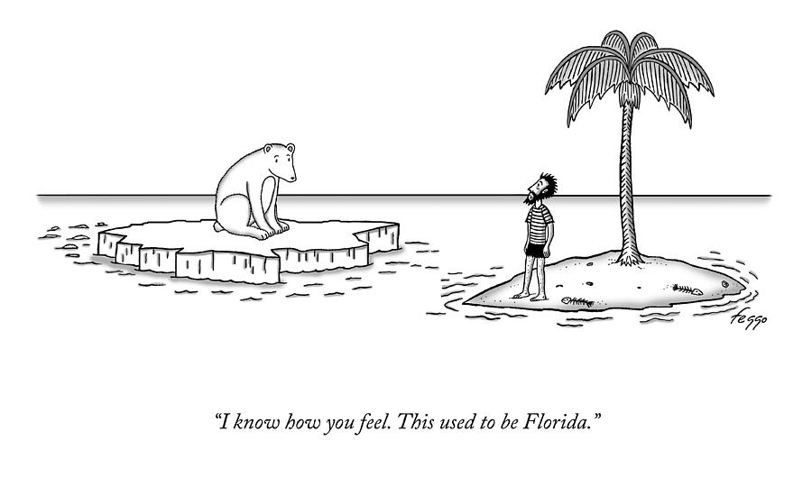 This Used To Be Florida Drawing by Felipe Galindo