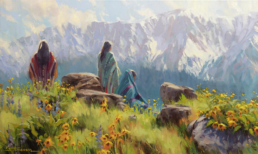 Nez Perce Painting - This Was Our Shangri-La by Steve Henderson