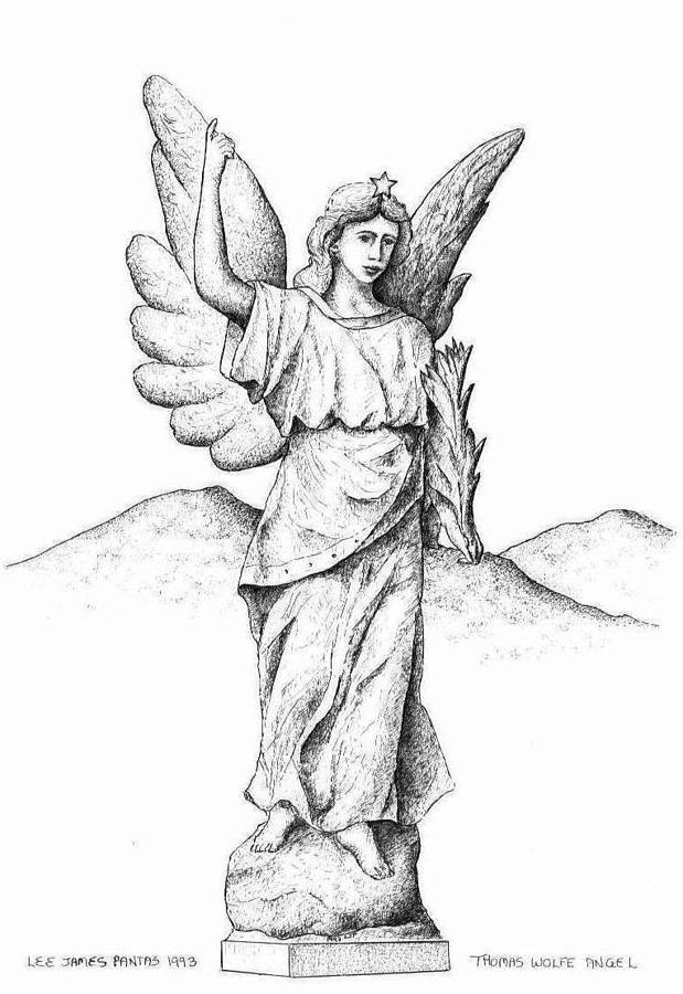 Thomas Wolfe Drawing - Thomas Wolfe Angel by Lee Pantas