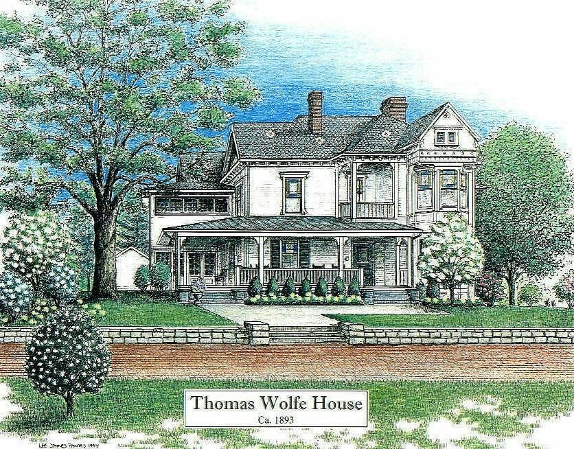 Thomas Wolfe Drawing - Thomas Wolfe House by Lee Pantas