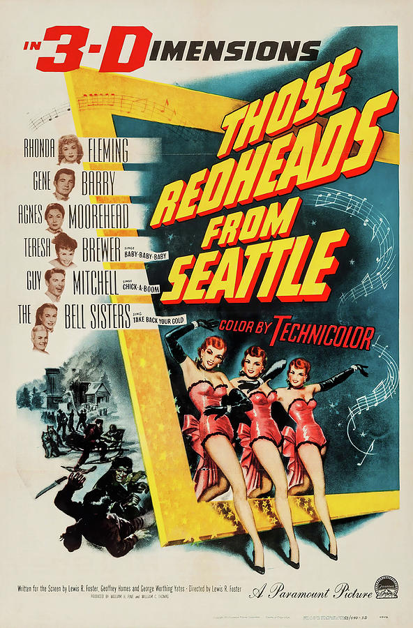 those Redheads From Seattle, With Rhonda Fleming, 1953 Mixed Media