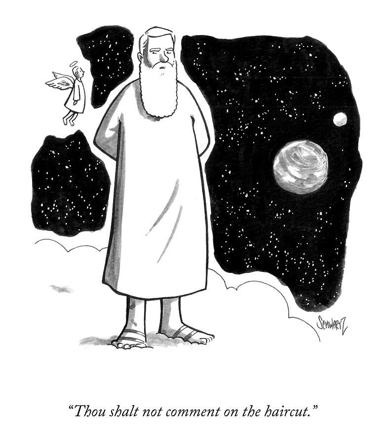 Thou Shalt Not Comment Drawing by Benjamin Schwartz