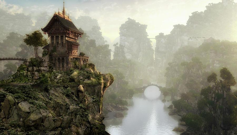 China Digital Art - Thousand Bridges by Cynthia Decker