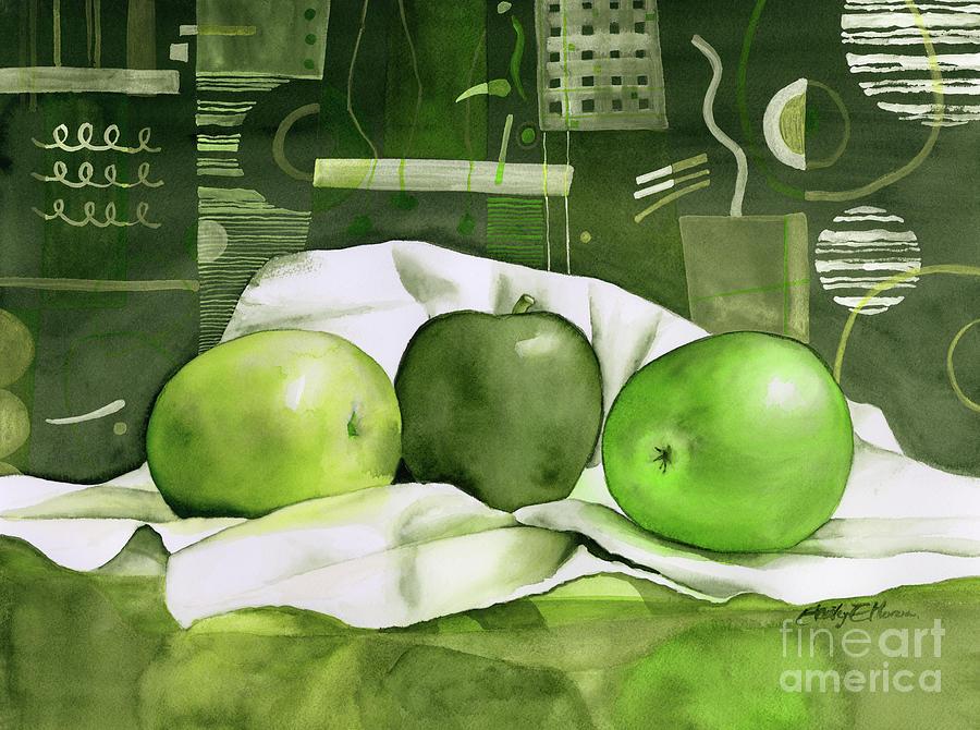 Three Apples-green Painting