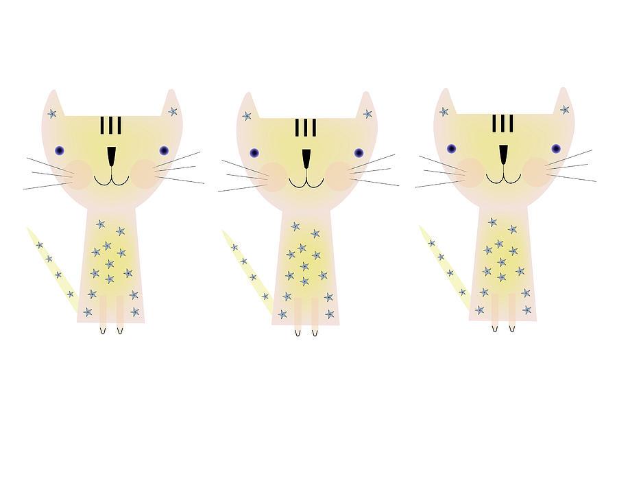 Three Cats Digital Art