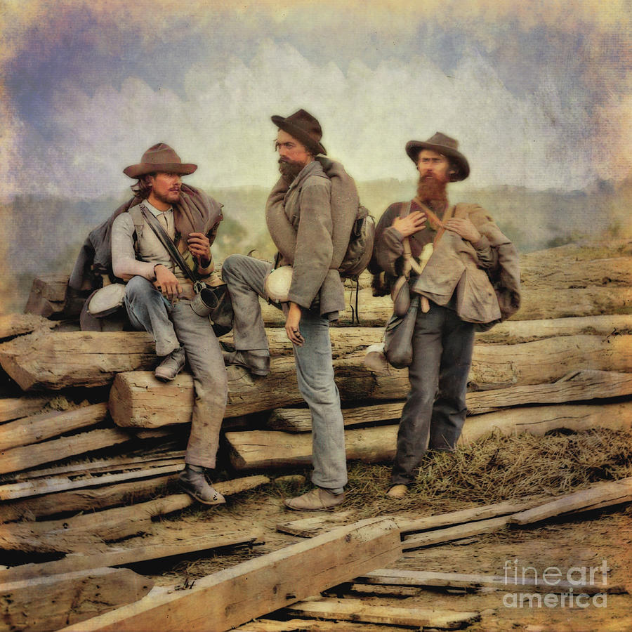 Three Confederate Prisoners At Gettysburg Color One Digital Art