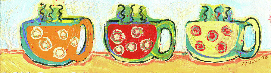Three Cups A Day Painting