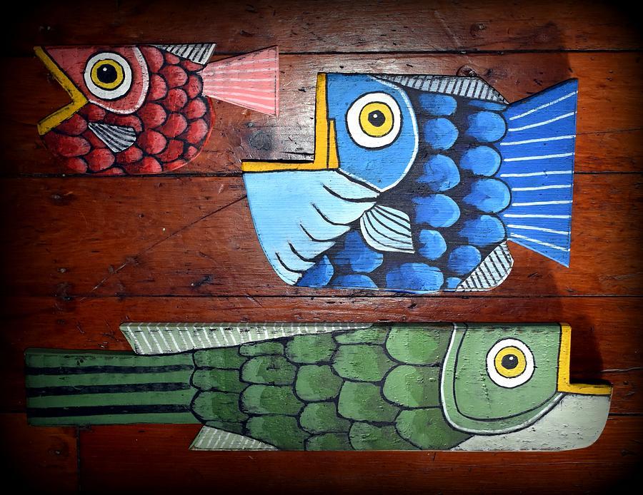 Three Fish Painting