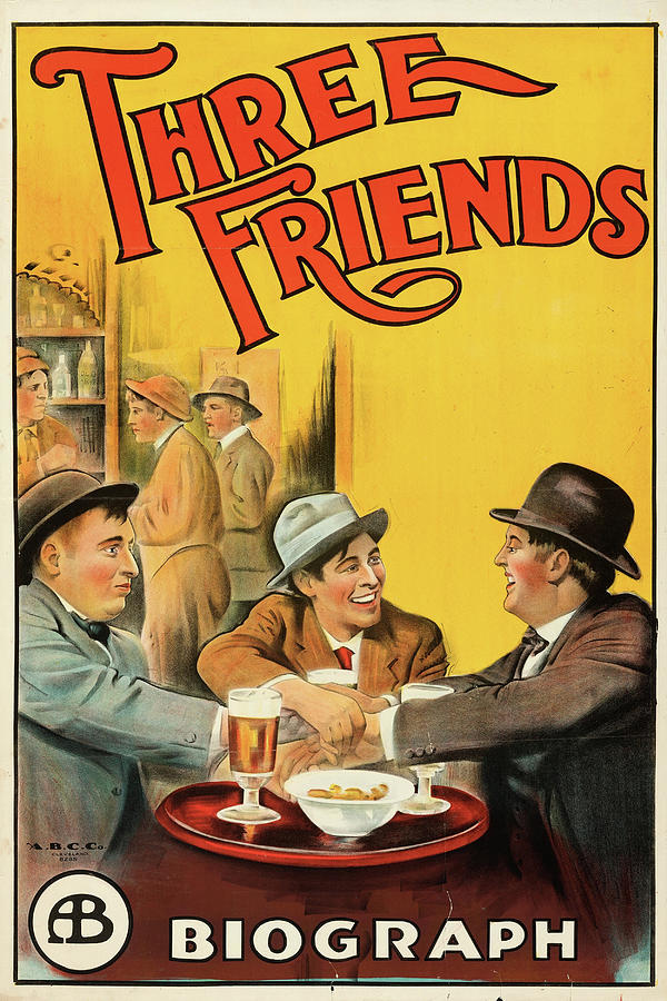 three Friends 1913 Mixed Media