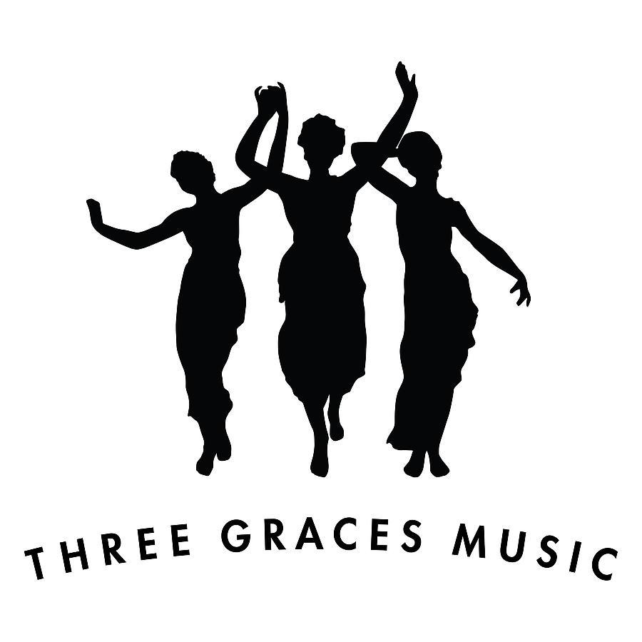 Three Graces Logo Digital Art by Designed by Mark Shoolery