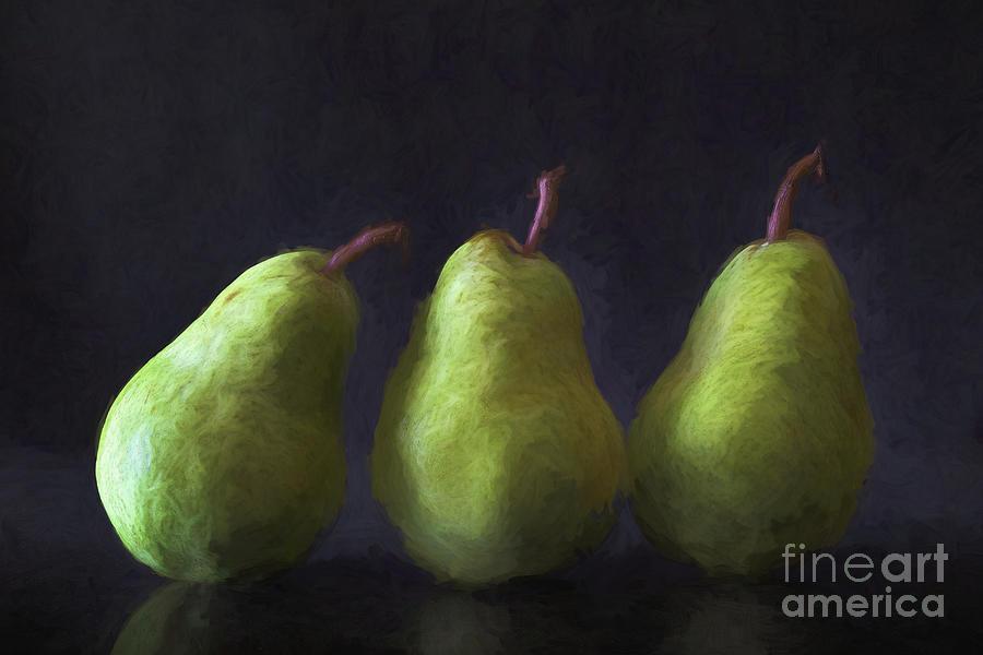 Three Green Pears Photograph