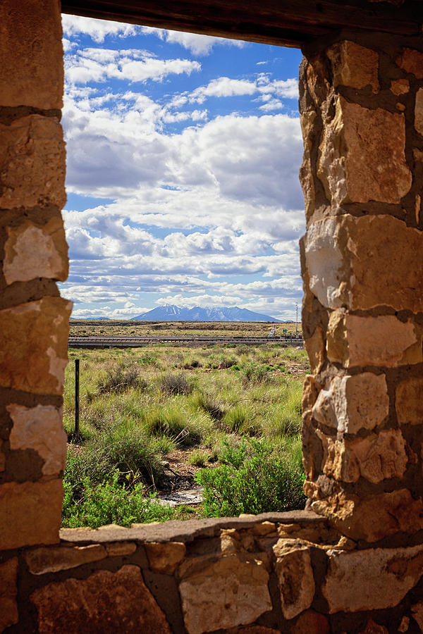 Arizona Photograph - Three Peaks from Two Guns by Jack and Darnell Est