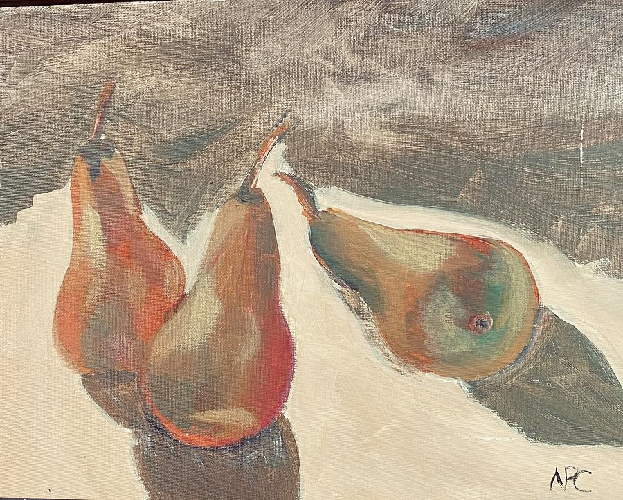 Pears Painting - Three pears by Naomi Cooper