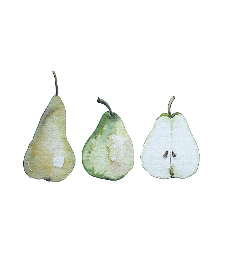 Three Pears Standing Painting