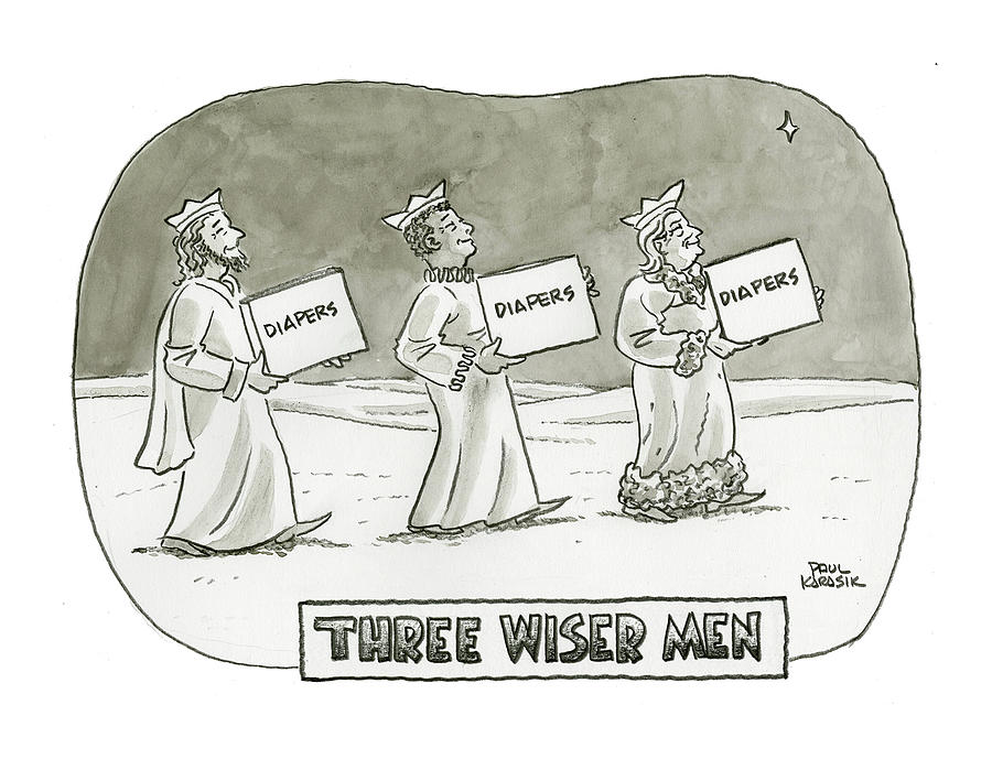 Three Wiser Men Drawing by Paul Karasik