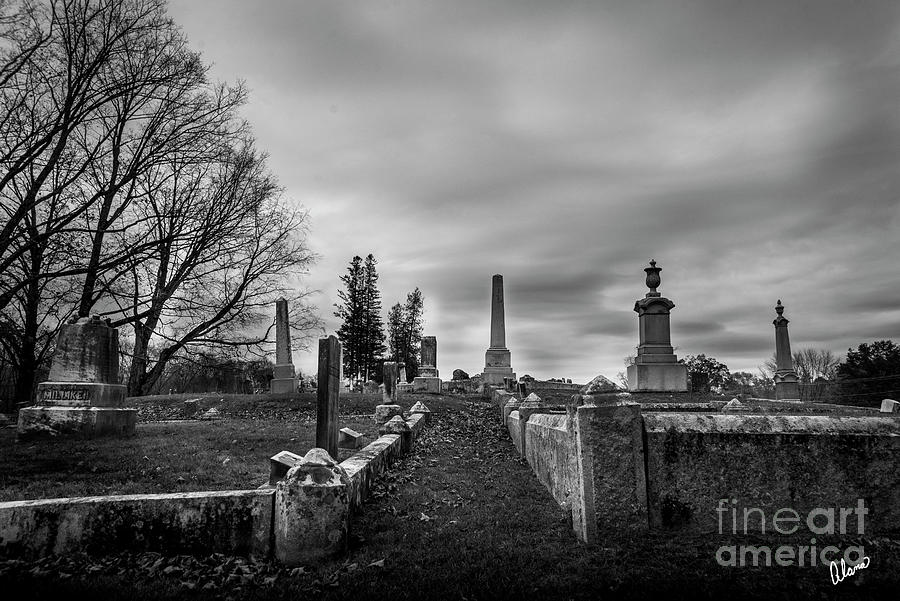 Maine Photograph - Through the Headstones by Alana Ranney