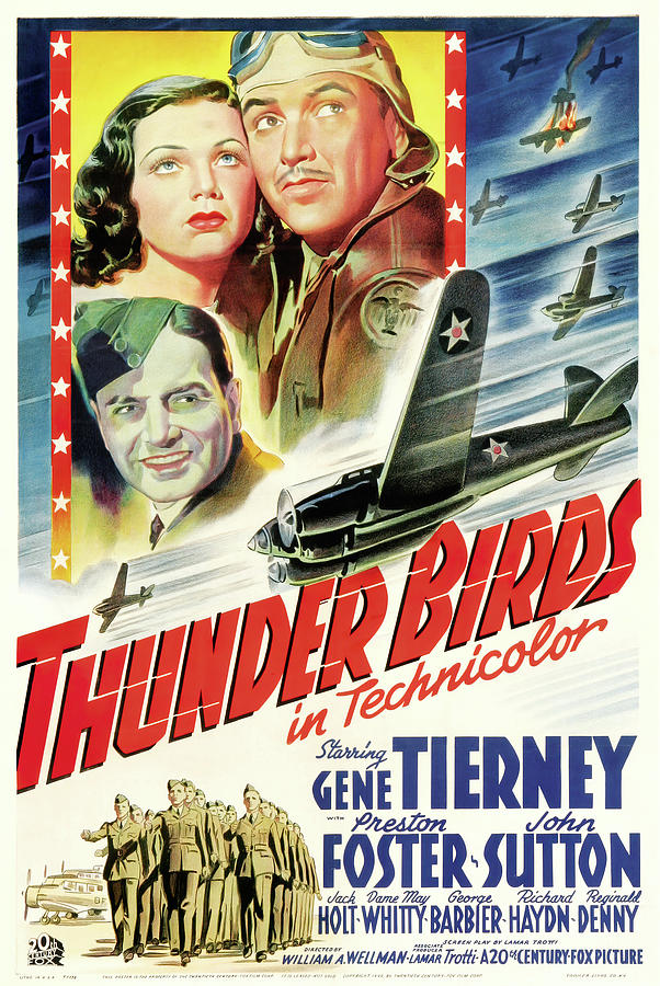 thunder Birds, With Gene Tierney, 1942 Mixed Media