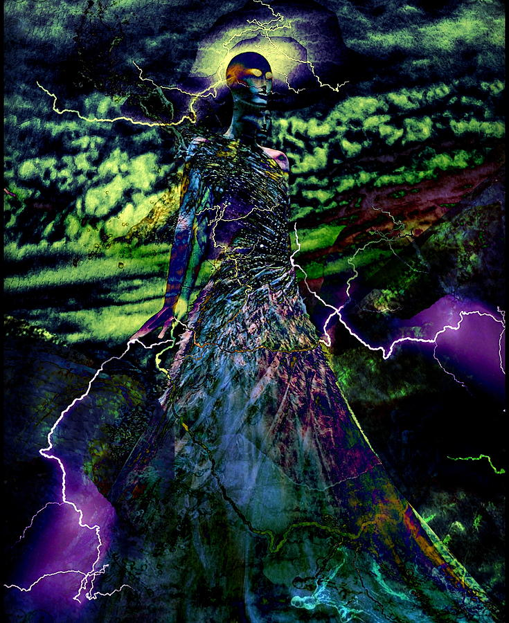 Surrealism Digital Art - Thunder by Gunilla Munro Gyllenspetz
