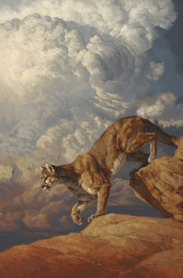 Cougar Painting - Thunderhead by Greg Beecham