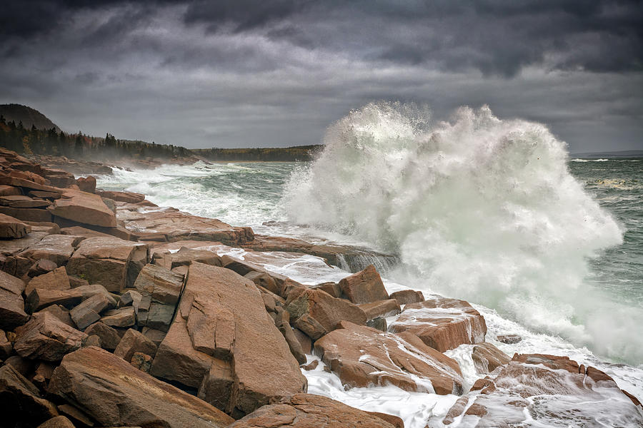 Thundering Surf in Acadia by Rick Berk