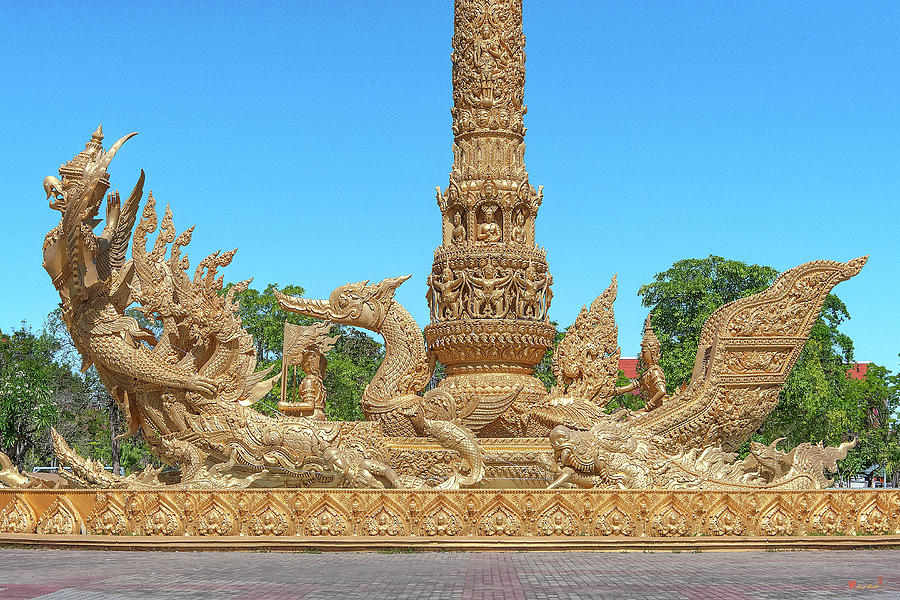 Thung Si Muang Park Giant Candle Golden Boat DTHU1056 by Gerry Gantt