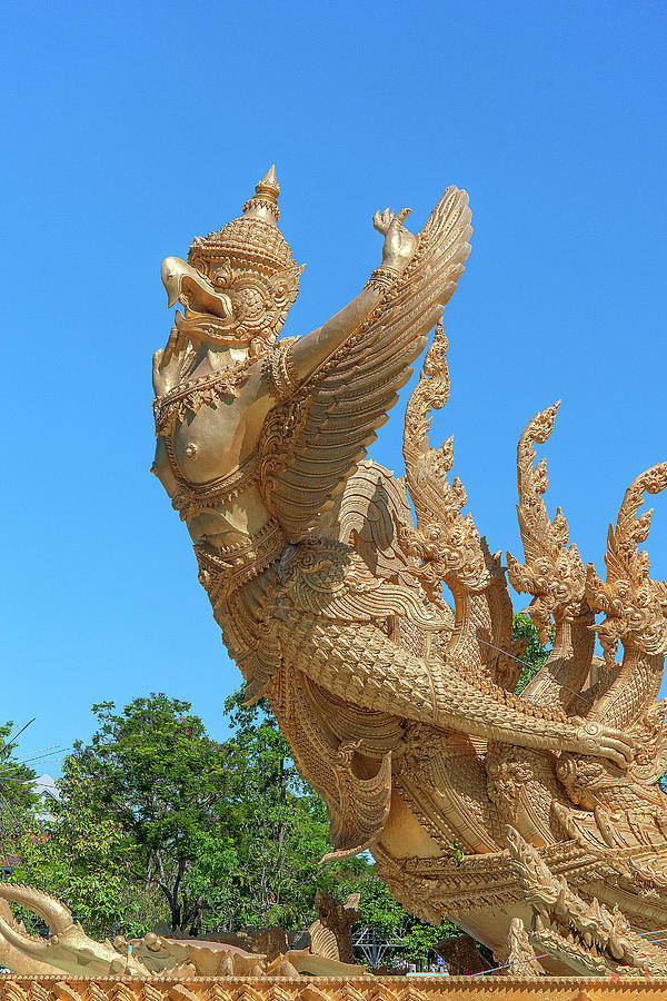 Thung Si Muang Park Giant Candle Golden Boat Kinara DTHU1058 by Gerry Gantt
