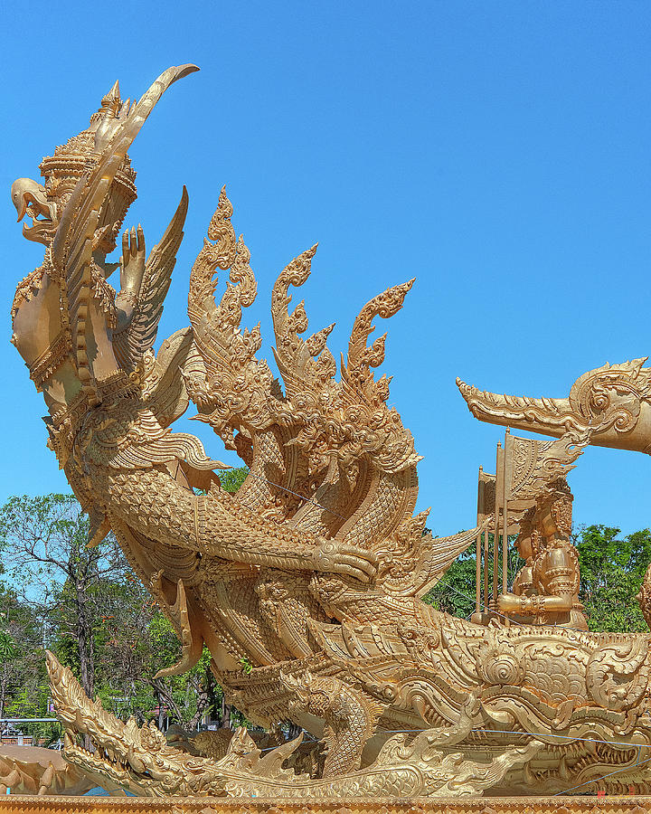 Thung Si Muang Park Giant Candle Golden Boat Naga DTHU1059 by Gerry Gantt