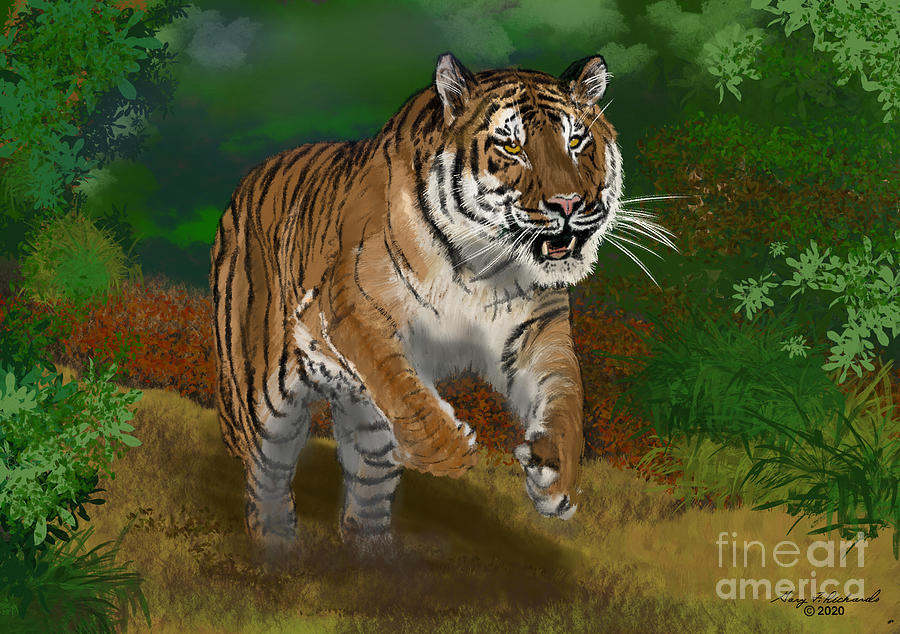Tiger Chase Digital Art