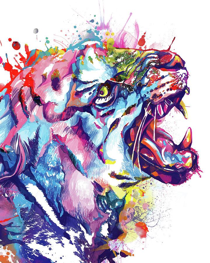 Tiger Colorful Digital Art