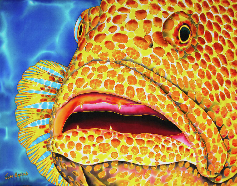 Tiger Grouper Face by Daniel Jean-Baptiste
