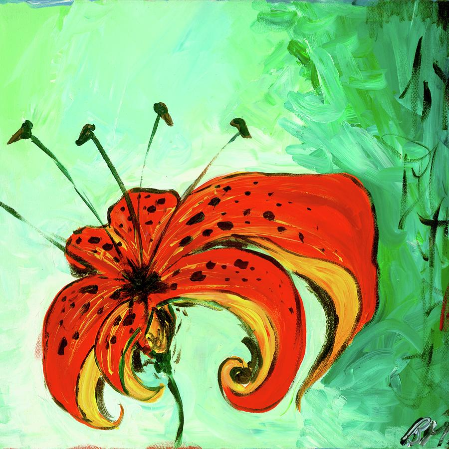 Tiger Lily Painting by Britt Miller