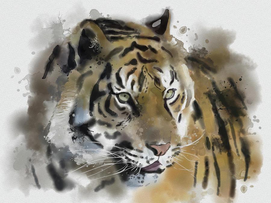Tiger Painting Digital Art