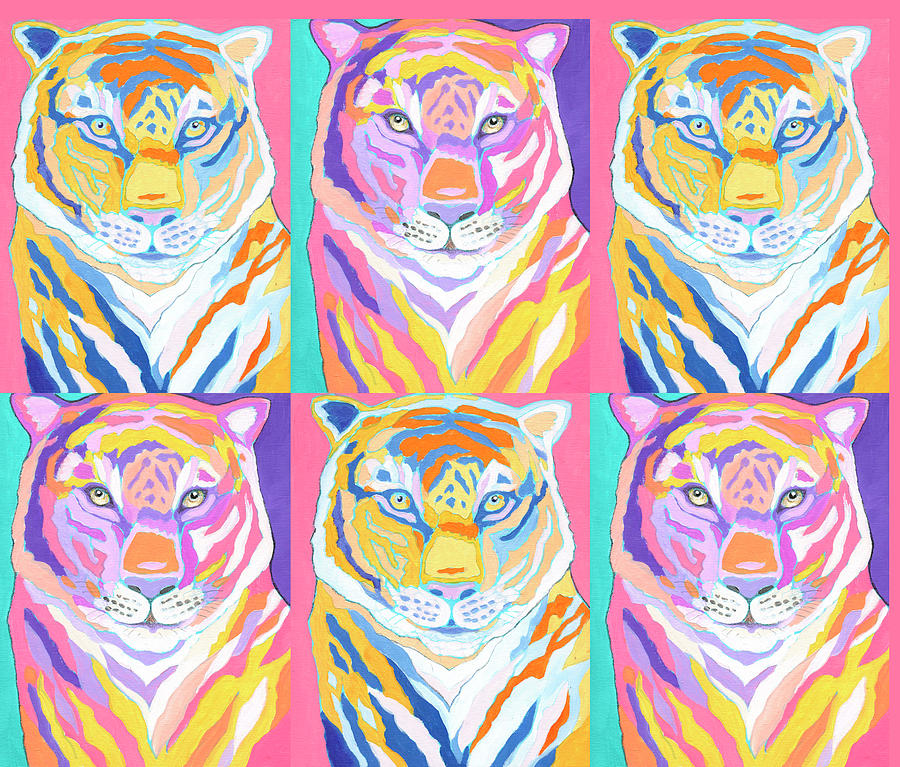Tiger Pop Art II Digital Art