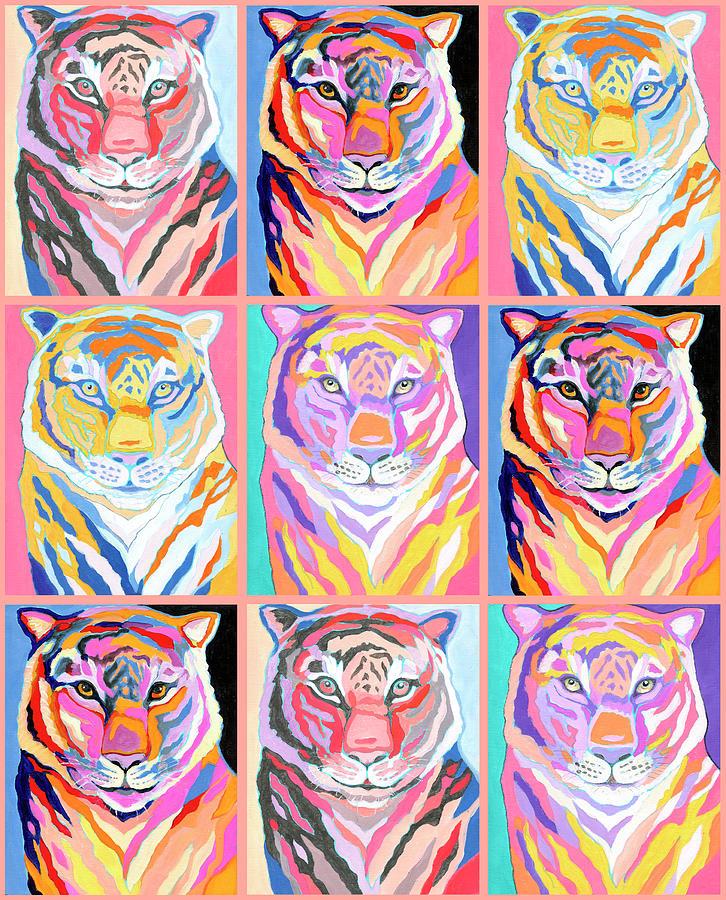 Tiger Pop Art IIi Digital Art