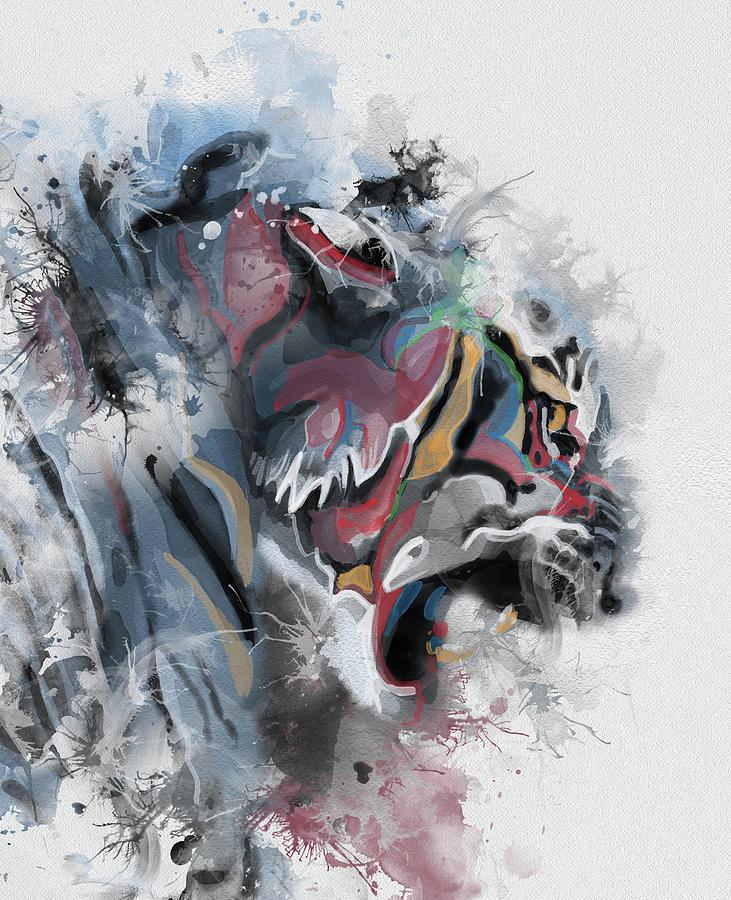 Tiger Portrait Abstract Digital Art