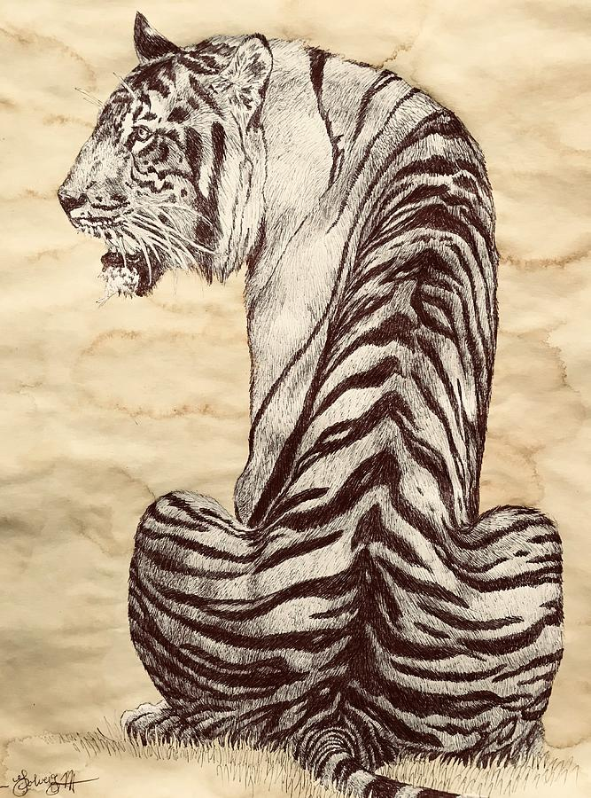 White Tiger Memorabilia Collectible Ball Point Pen Siberian Stationery Big Cat