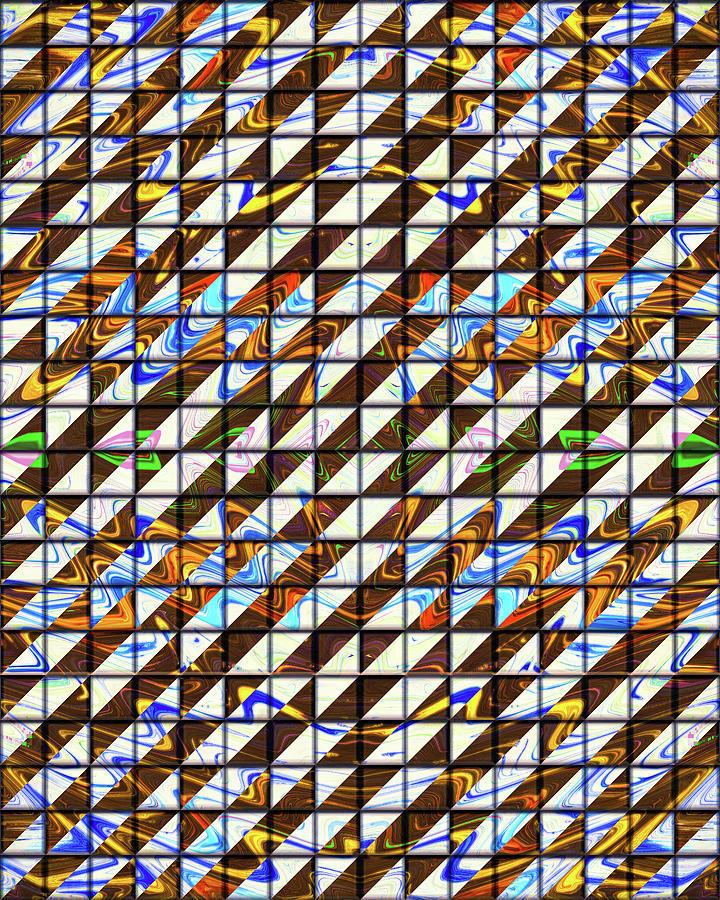 Tiles of Mystic Past Digital Art by Jack Entropy