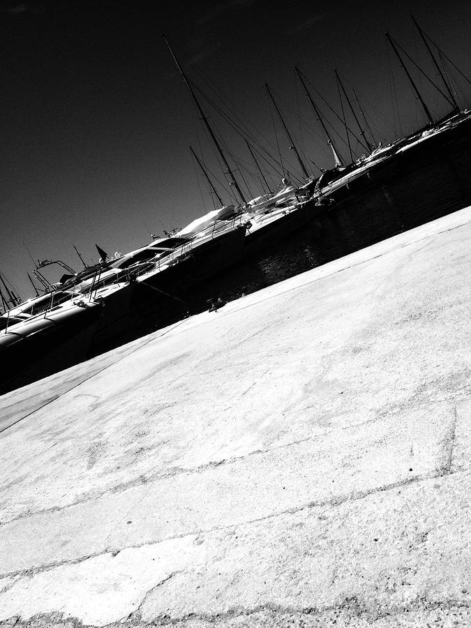 Tilt Image Of Boats Moored At Harbor Against Sky Photograph by Frank Swertz / EyeEm